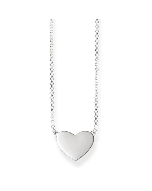Thomas Sabo - Metallic Love Bridge Heart Tag Necklace - Lyst