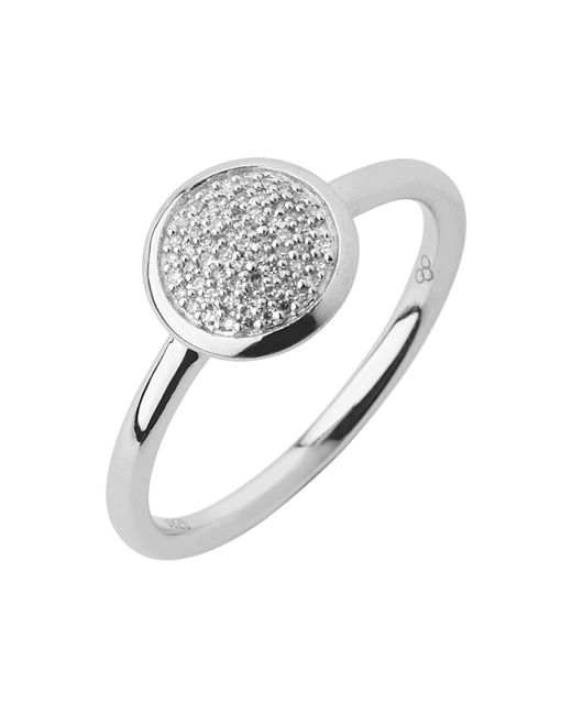 Links of London - Metallic Diamond Essentials Pave Ring - Ring Size N - Lyst