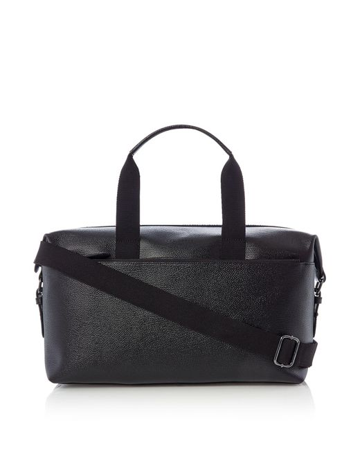 Ted Baker | Black Corre Leather Holdall for Men | Lyst