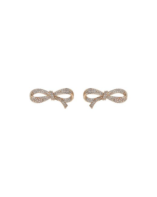 Mikey | Metallic Fine Edge Cubic Bow Earring | Lyst