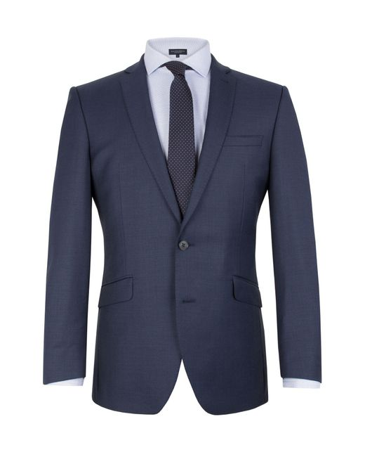 Racing Green - Blue Notch Collar Tailored Fit Suit Jacket for Men - Lyst