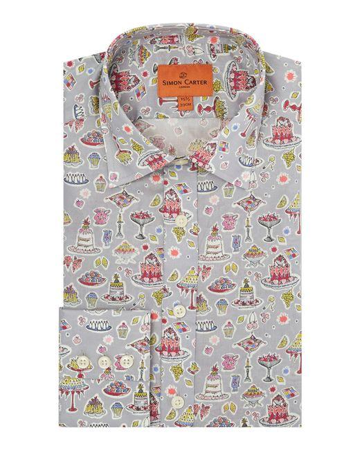 Simon Carter - Gray Men's Liberty High Tea Print Shirt for Men - Lyst