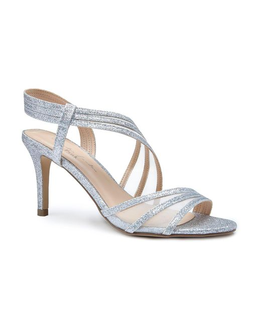 56d4703f14c Paradox London Pink Marina Glitter And Mesh Sandals in Metallic - Lyst