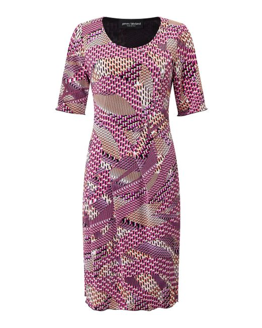 James Lakeland   Pink Printed Cut Pleat Dress   Lyst