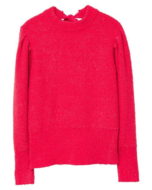 Mango | Pink Back Vent Sweater | Lyst