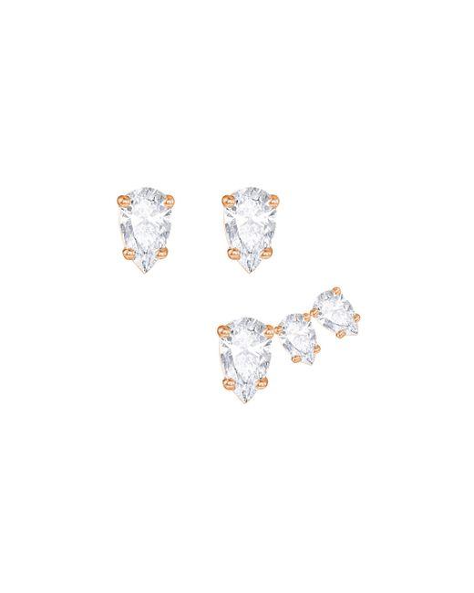 Swarovski | Metallic Attract Pear Pierced Earring Set | Lyst