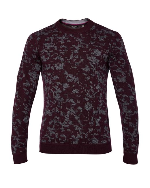 Ted Baker | Red Gelato Interest Jacquard Jumper for Men | Lyst