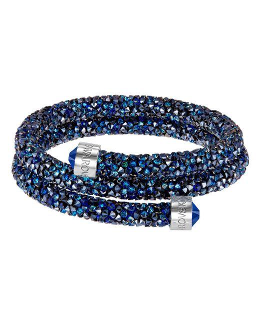 Swarovski | Blue Crystal Dust Bangle Bracelet | Lyst