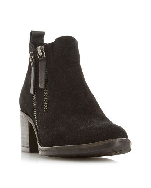 Dune - Black Pikton Double Zip Ankle Boots - Lyst