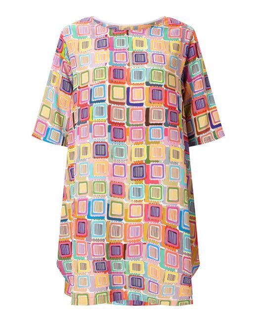 James Lakeland - Pink Print Point Dress - Lyst