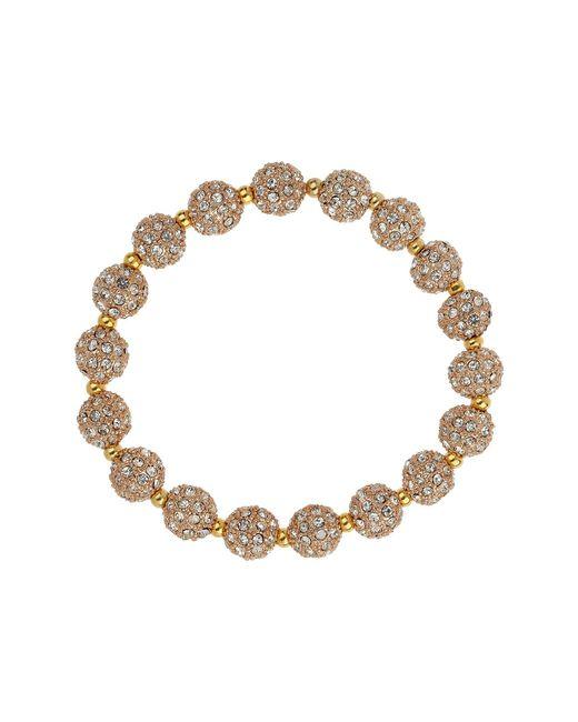 Mikey - Metallic Cubic Crystal Ring Ball Elastic Bracelet - Lyst