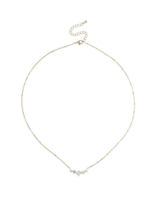 Mikey Metallic Crystal Round Link Necklace