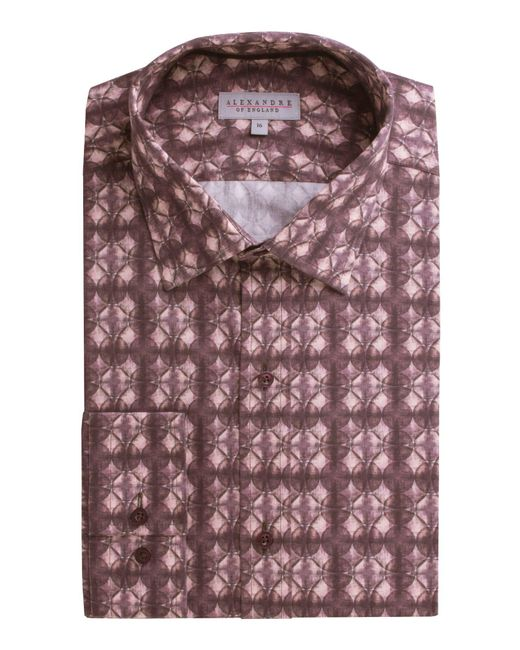 Alexandre Of England - Leven Pink Circles Shirt for Men - Lyst