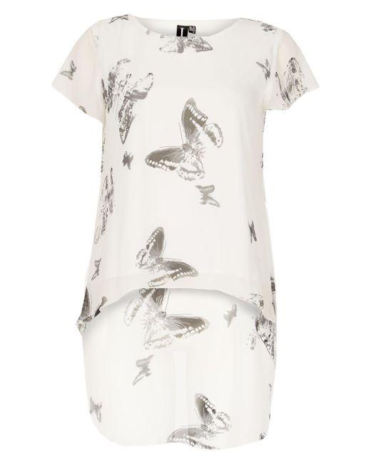 Izabel London   White Butterfly Print Top   Lyst