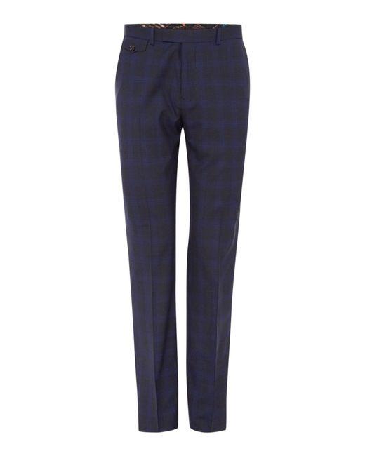 Ted Baker | Gray Restor Tonal Check Trousers for Men | Lyst