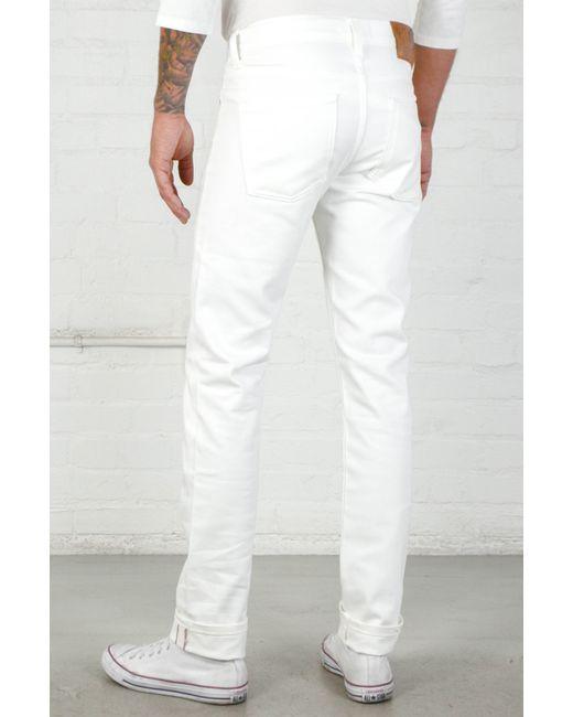 Naked  Famous White Stretch Selvedge Super Skinny Guy In White For Men  Lyst-6792