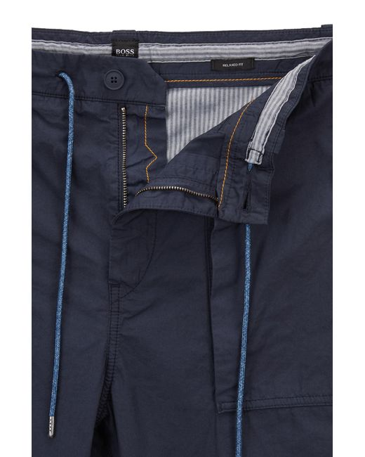 Relaxed-fit cropped trousers in overdyed Italian cotton poplin BOSS Super Pay With Paypal Cheap Online Discount Fashion Style Sale Footlocker Pictures Outlet Store Online 6vwLhIDwpo