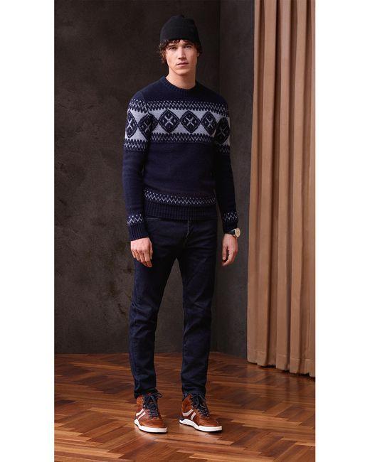 Boss orange 'kionas' | Virgin Wool Blend Fair Isle Sweater in Blue ...