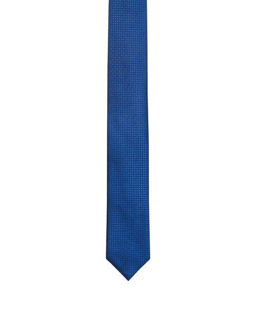 HUGO - Blue Micro-pattern Tie In Silk Jacquard for Men - Lyst