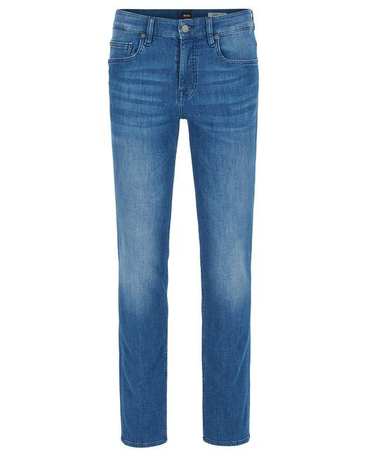 BOSS Orange   Blue Slim-fit Jeans In Spanish-knit Stretch Denim for Men   Lyst