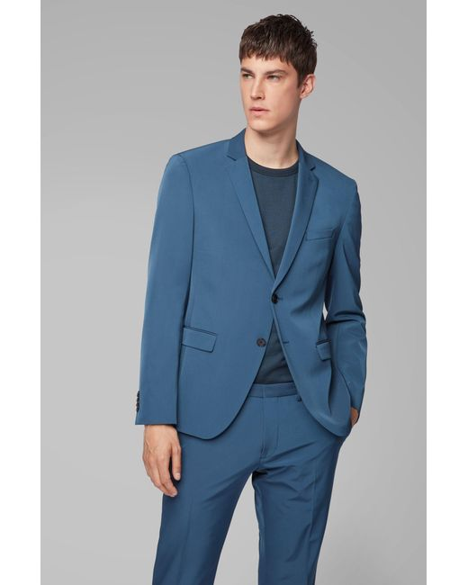 b1185928 ... BOSS - Blue Extra-slim-fit Suit With Stitch-free Finishing for Men ...