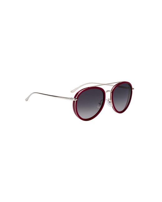 BOSS Red Double-bridge Sunglasses In Berry Acetate