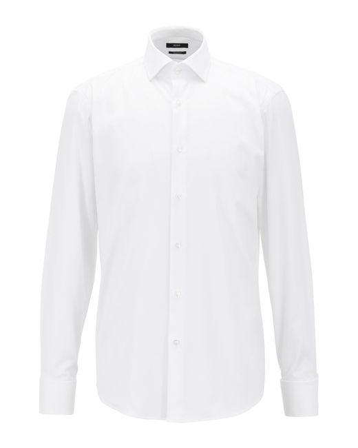 BOSS - White Regular-fit Cotton Shirt: 'gardner' for Men - Lyst