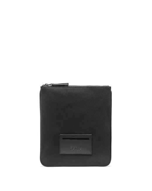 HUGO - Black Envelope Bag With Leather Trims for Men - Lyst