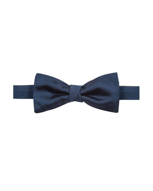 HUGO - Blue Silk Bow Tie With Twill Structure for Men - Lyst