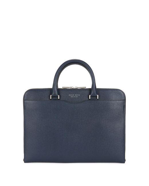 BOSS - Blue Leather Portfolio Case | Signature Folio Slim for Men - Lyst