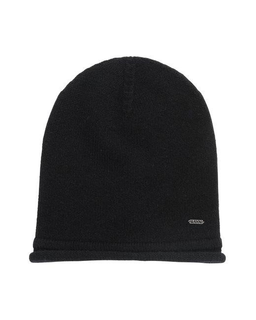 HUGO | Black Mottled Hat In Cashmere Wool: 'women-x 458' | Lyst