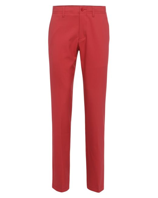 BOSS Green | Red Golf Trousers In Fabric Blend: 'hakan 7' for Men | Lyst