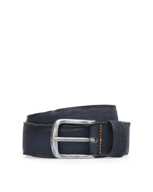 BOSS Orange | Blue Belt In Washed Leather: 'biboly' for Men | Lyst
