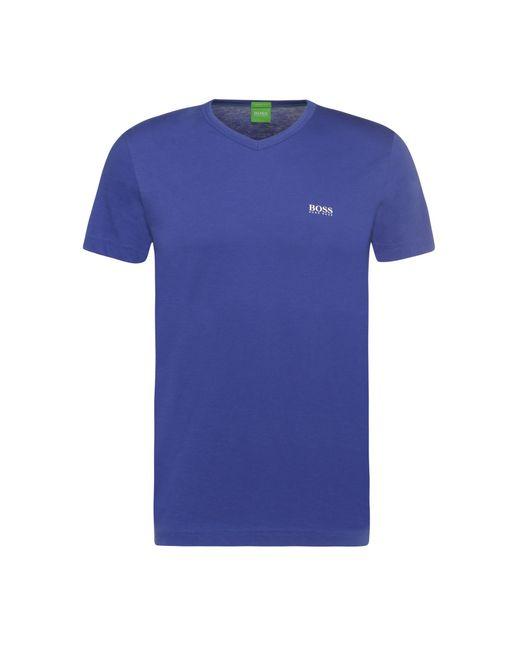 BOSS Green   Blue 'teevn'   Cotton V-neck T-shirt for Men   Lyst