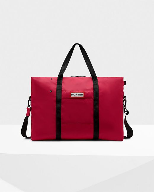 Hunter - Red Original Nylon Weekender - Lyst
