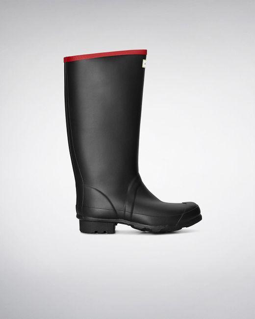 Hunter - Black Argyll Neoprene Wellington Boots for Men - Lyst
