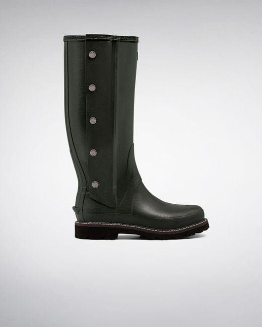 Hunter | Green Balmoral Side Zip Wellington Boots for Men | Lyst