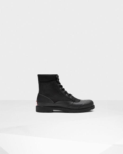 Hunter   Black Men's Original Rubber Lace-up Boots for Men   Lyst