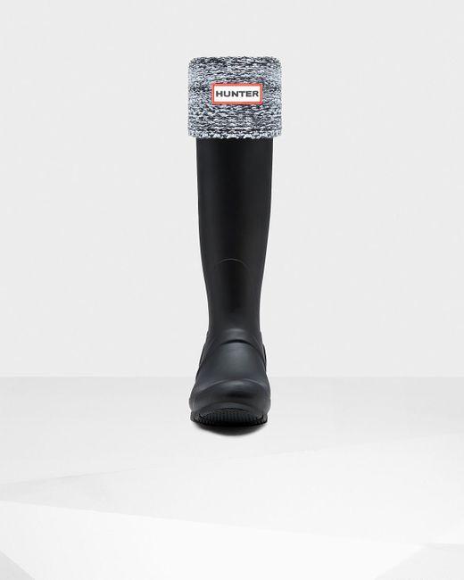 HUNTER | Black Winter Mouliné Boot Socks | Lyst