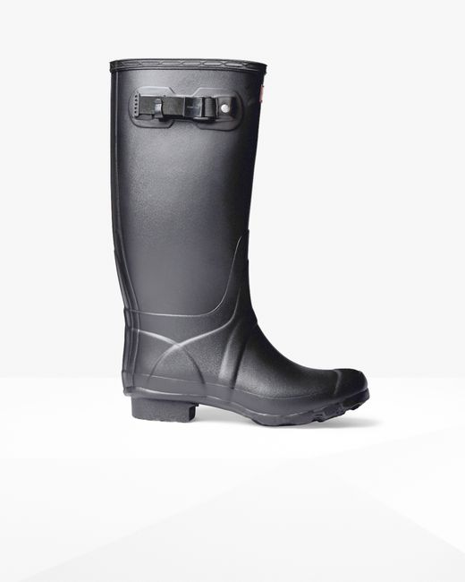 Original Hunter Women S Original Tall Gloss Rain Boots In Black  Lyst