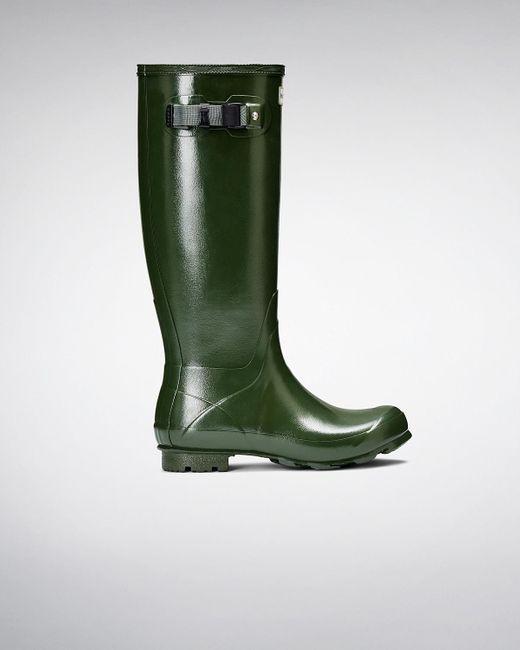Hunter   Green Women's Norris Field Gloss Rain Boots   Lyst