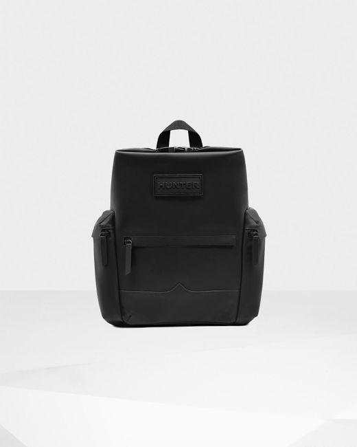 Hunter   Black Original Rubberized Leather Backpack for Men   Lyst