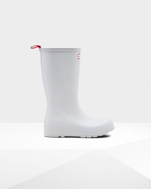 Hunter - White Original Play Tall Rain Boots - Lyst