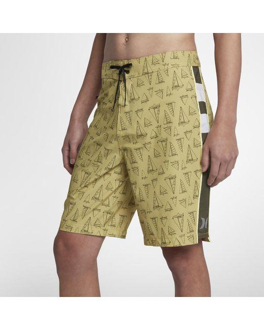 """Hurley - Metallic Phantom Jjf Maritime 20"""" Board Shorts for Men - Lyst"""