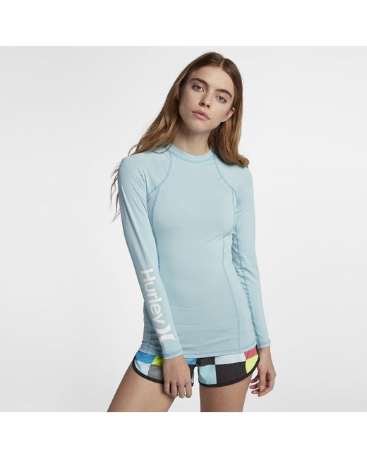 Hurley - Blue One And Only Rashguard Surf Shirt - Lyst