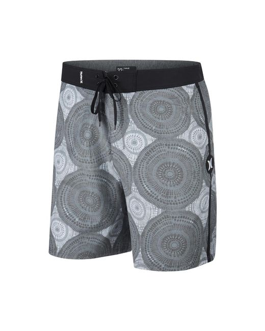 "Hurley - Black Beachside Kolide 18"" Board Shorts for Men - Lyst"