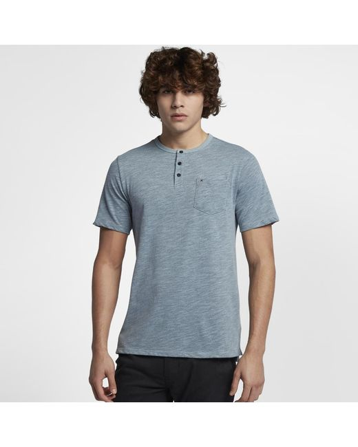 11035a4f8 Lyst - Hurley Dri-fit Lagos Henley Shirt in Blue for Men
