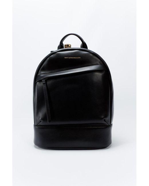 Want Les Essentiels De La Vie   Mini Piper Backpack Jet Black   Lyst