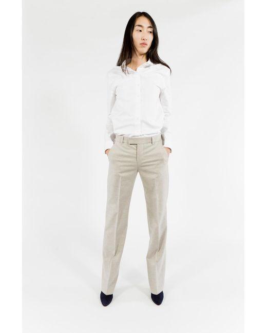 Maison Kitsuné   Natural Flannel Masculin Pant   Lyst