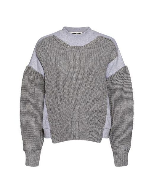 35feb9cb550 McQ Alexander McQueen - Gray Chunky Knit Textured Sweater - Lyst ...